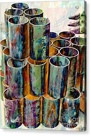 Steel Pipes Acrylic Print