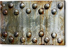 Steel Rivets With Rust Minimalist Steampunk  Acrylic Print