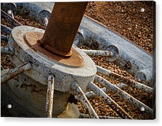 Acrylic Print featuring the photograph Steel Wheel by Beverly Parks