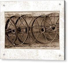 Steel Wheels Acrylic Print
