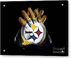 Steelers Gloves Acrylic Print