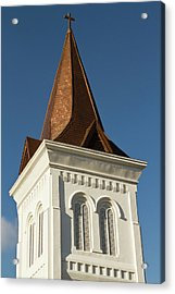 Steeple Of Historic First United Acrylic Print by William Sutton