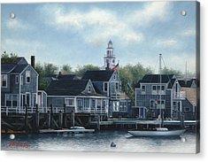 Steeple View Nantucket Acrylic Print by Julia O'Malley-Keyes