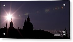 Steeples At Sunset Acrylic Print