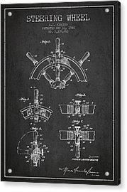 Steering Wheel Patent Drawing From 1944  - Dark Acrylic Print