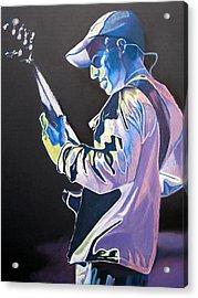 Stefan Lessard Colorful Full Band Series Acrylic Print by Joshua Morton