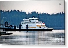 Steilacoom Ferry At Dusk Acrylic Print by Chris Anderson