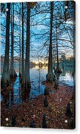 Steinhagen Reservoir Vertical Acrylic Print