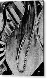 Steinway Black And White Inners Acrylic Print