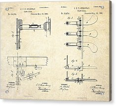 1885 Steinway Piano Pedal Patent Art Acrylic Print