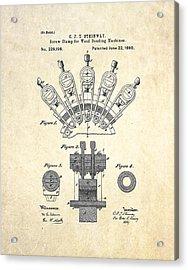 1880 Steinway Screw Clamp Patent Art Acrylic Print