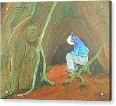 Stellar Jay Begins His Journey...will You Follow? Acrylic Print by Gilbert Bernhardt