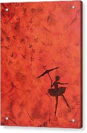 Stencil Ballerina Acrylic Print