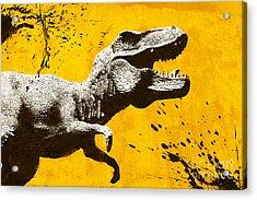 Stencil Trex Acrylic Print by Pixel Chimp
