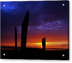 Stennes Sunset Acrylic Print by Steve Watson