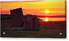 Stenness Sunset 2 Acrylic Print by Steve Watson