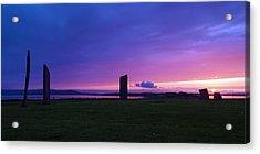 Stenness Sunset 3 Acrylic Print by Steve Watson