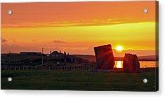 Stenness Sunset 4 Acrylic Print by Steve Watson