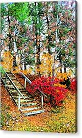 Step Into Autumn Acrylic Print