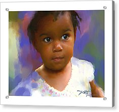 Acrylic Print featuring the digital art Stephanie by Bob Salo