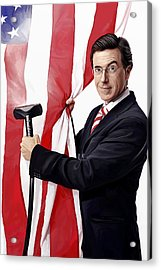 Acrylic Print featuring the painting Stephen Colbert Artwork by Sheraz A