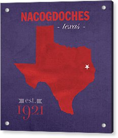 Stephen F Austin University Lumberjacks Nacogdoches Texas College Town Map Pillow Acrylic Print