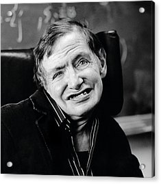 Stephen Hawking Acrylic Print by Lucinda Douglas-menzies