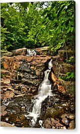 Stepped Falls - Ellsworth New Hampshire Acrylic Print by Naturally NH