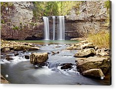 Stepping Down Acrylic Print by Scott Moore