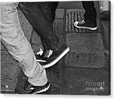 Stepping Out Acrylic Print by Clare Bevan
