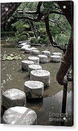Stepping Stone Kyoto Japan Acrylic Print