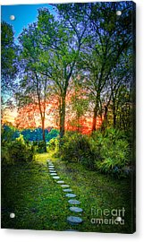 Stepping Stones To The Light Acrylic Print by Marvin Spates