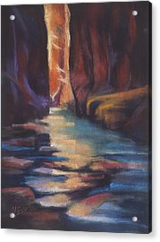 Stepping Stones Zion Canyon Acrylic Print