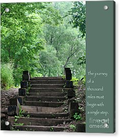 Steps And Lao Tzu Quote Acrylic Print by Heidi Hermes