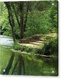 Acrylic Print featuring the photograph Steps At Blue Spring by Julie Clements