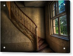 Steps In A Curve Acrylic Print by Nathan Wright