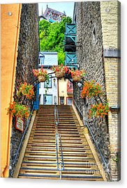 Steps Of Old Quebec Acrylic Print