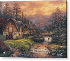Steps Off The Appalachian Trail Acrylic Print by Chuck Pinson