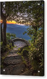 Steps To A View Acrylic Print by Andrew Soundarajan