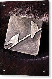 Sterling Silver Birds Acrylic Print