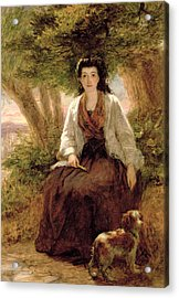 Sternes Maria, From A Sentimental Acrylic Print by William Powell Frith