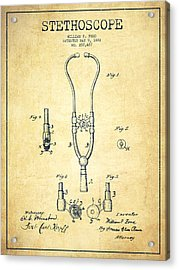 Stethoscope Patent Drawing From 1882 - Vintage Acrylic Print