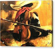 Stetson - Fiddle - Boots  Acrylic Print