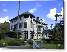 Stetson Mansion Acrylic Print by Laurie Perry