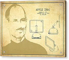 Steve Jobs Imac  Patent - Vintage Acrylic Print by Aged Pixel