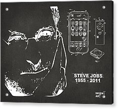Steve Jobs Iphone Patent Artwork Gray Acrylic Print by Nikki Marie Smith