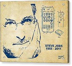 Steve Jobs Iphone Patent Artwork Vintage Acrylic Print