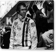 Steve Mcqueen In Racing Gear Acrylic Print