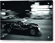 Steve Mcqueen Jaguar Xk-ss On Sunset Blvd Acrylic Print