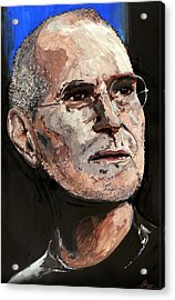 Acrylic Print featuring the painting Steven Paul Jobs by Gordon Dean II